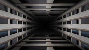 Metal Corridor Loop Video. Metal Wall Corridor Loop Video stock video