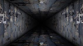 Metal Corridor Loop Video stock video footage