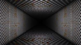 Metal Corridor Loop Video. Metal Wall Corridor Loop Video stock footage