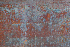 Metal corroded texture. Brown rust royalty free stock image
