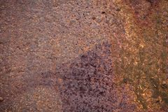 Metal corroded texture. Photo of the corroded metal texture. Close up shot Royalty Free Stock Photography