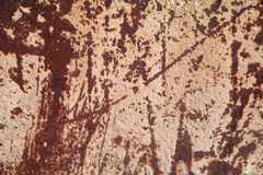 Metal corroded texture. With splashes of concrete royalty free stock image