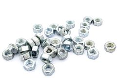 Metal corrosion-proof nuts Stock Photography