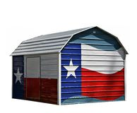 Metal Corrugated Storage Shed Stock Photography