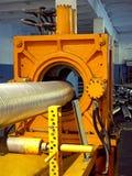 Metal corrugation forming machine. Royalty Free Stock Images