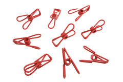 Metal Cothes Pegs Stock Images