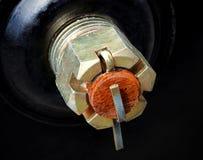 Metal cotter pin Royalty Free Stock Image