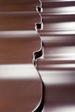 Metal covering for a roof Stock Images