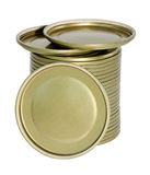 Metal covers for glass jars Stock Photography