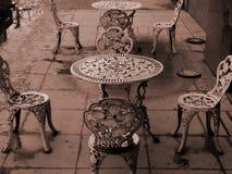 Metal craft chair Stock Photo