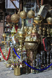 Metal craft shop in Cairo Royalty Free Stock Image
