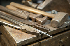 Metal crafting tools Royalty Free Stock Photography