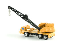 Metal crane toy truck Royalty Free Stock Images