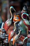 Metal cranes Indian handicrafts Stock Images