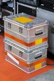 Metal crates Stock Image