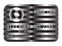 Metal credit card Royalty Free Stock Photography