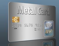 Metal credit card. This is a metal credit card. Illustration stock illustration