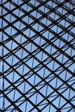 Metal criss-cross window design background stock photography