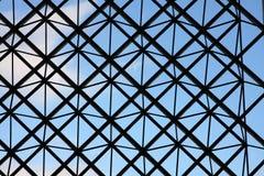 Metal criss-cross window design royalty free stock photos