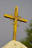 Metal Cross on Cemetery Entry Royalty Free Stock Photos