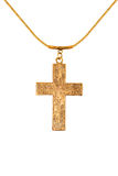 Metal cross on a chain Royalty Free Stock Image