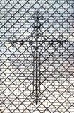 Metal cross Stock Photo