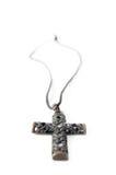 Metal cross necklace Stock Photos