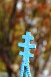 Metal cross Stock Image