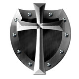 Metal Cross Shield of GOD Stock Images