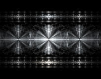 Metal Crosses. Fractal rendering resemblimg stainless steel crosses Royalty Free Stock Images