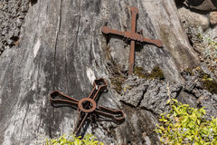 Metal crosses. Royalty Free Stock Photos