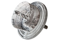 Metal crown. Crown for drilling round holes in drywall and wood Stock Photos