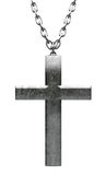 Metal Crucifix and Chain Close Up Royalty Free Stock Images