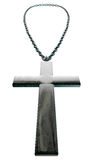 Metal Crucifix and Chain Close Up Royalty Free Stock Photo