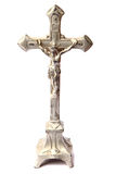 Metal crucifix isolated Royalty Free Stock Images