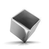 Metal cube. An idea of simplicity and instability royalty free illustration