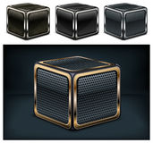 Metal cube Royalty Free Stock Photo