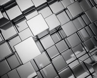 Metal cube background Stock Photo
