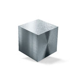 Metal cube. Isolated on a white background Stock Images