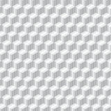 Metal cube seamless pattern black and white.  Stock Image