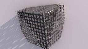 Metal Cube in Wall Stock Images