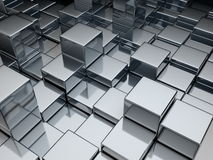 Metal cubes Stock Image