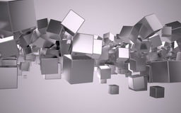 Metal cubes Royalty Free Stock Images