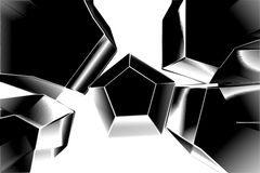 Metal cubes. On image chrome ice cubes Royalty Free Stock Image