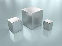 Metal cubes Stock Photography