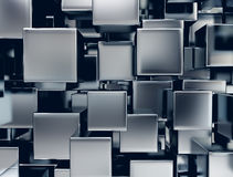 Metal cubes background Stock Image