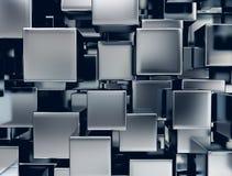 Metal cubes background. 3d illustration of abstract metal cubes background Stock Image