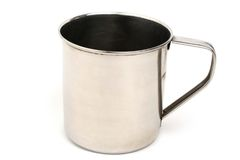 Metal cup royalty free stock images