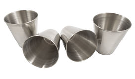 Metal cup Stock Images