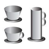 Metal cups Royalty Free Stock Photos